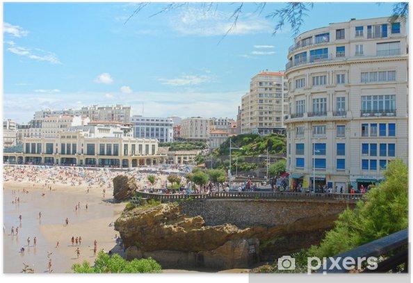 Plakat Biarritz, Akwitania, Francja - Europa