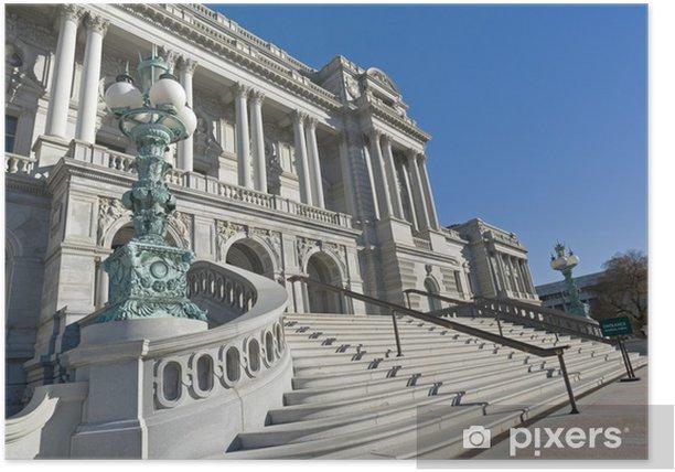 Plakat Biblioteka Kongresu - Miasta amerykańskie