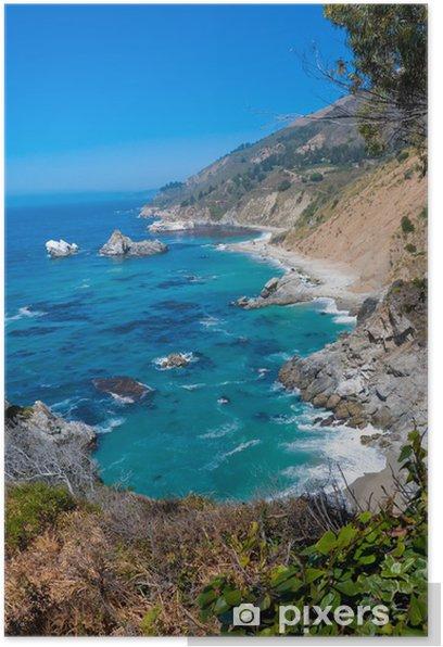 Plakat Big Sur, Monterey Bay, California - Ameryka