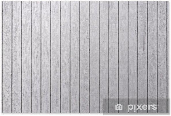 Plakát Bílé dřevěné desky - Styly