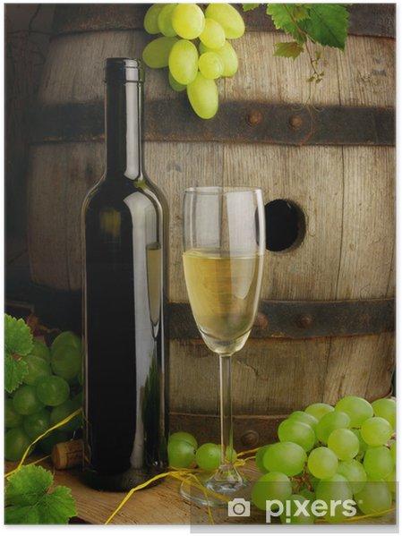 Plakát Bílé víno a starý barel - Témata