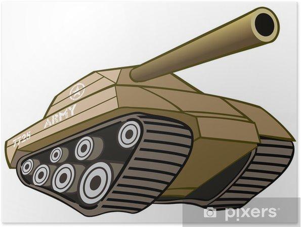 Plakát Bitevní tank - Amerika
