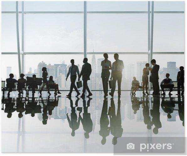 Plakat Biznesmenów posiadające przerwę w Nowym Jorku - Sytuacje biznesowe