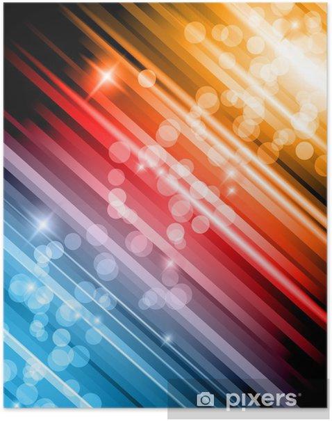 Plakat Blask z Lights abstrakcyjna tła w kolorach tęczy - Znaki i symbole