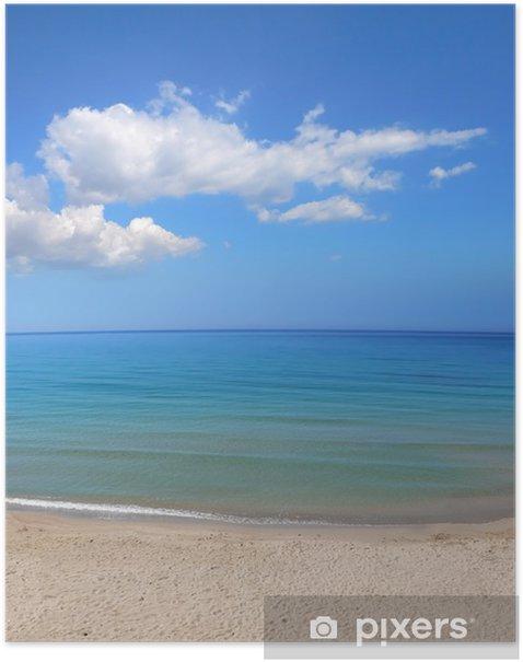 Plakat Błękitne morze i niebo - Wyspy