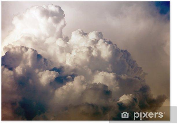 Plakat Błękitne niebo z chmurami - Niebo
