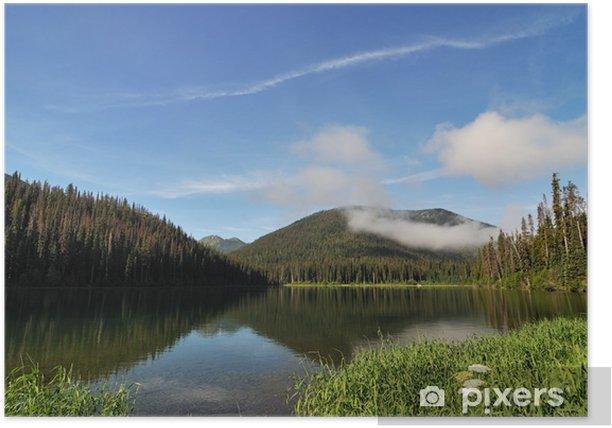 Plakát Blesk jezero v obsazení posádkou provinčního parku - Nebe
