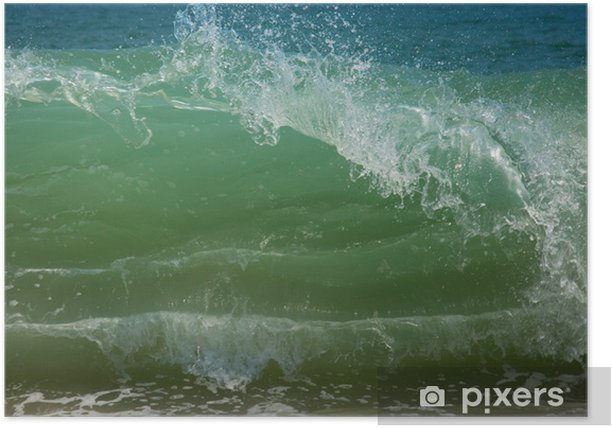 Plakat Blue Beach wave - Wakacje
