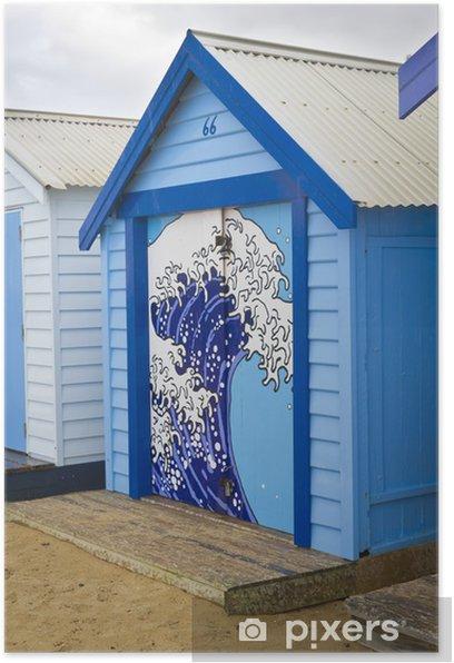 Plakat Blue box kąpieliskach - Woda