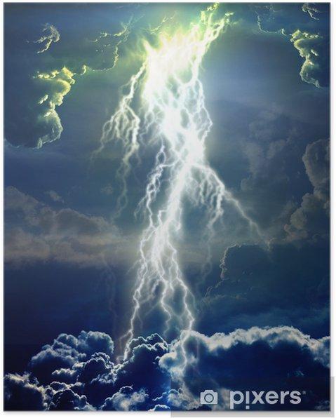 Plakat Błyskawica w chmurach - Inne uczucia