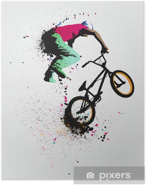 Plakat BMX FREESTYLE - Sporty na świeżym powietrzu