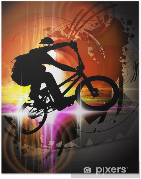 Plakat BMX rowerzysta - Kolarstwo