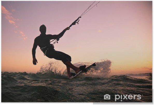 Plakat Boarding Kite. Kitesurfingu freestyle -