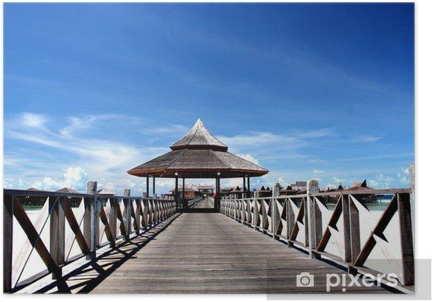 Plakát Boardwalk Maledivy - Prázdniny