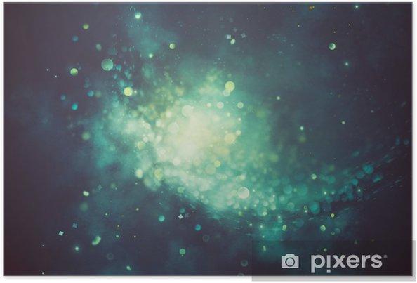 Plakat Bokeh błyszczące abstrakcyjne tło - Zasoby graficzne