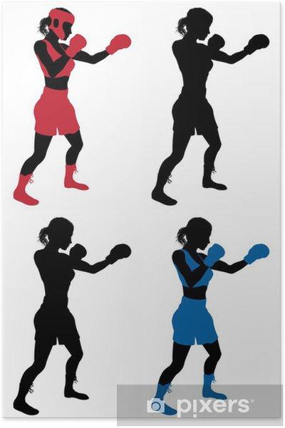 Plakat Boks bokser żeński - Sporty indywidualne