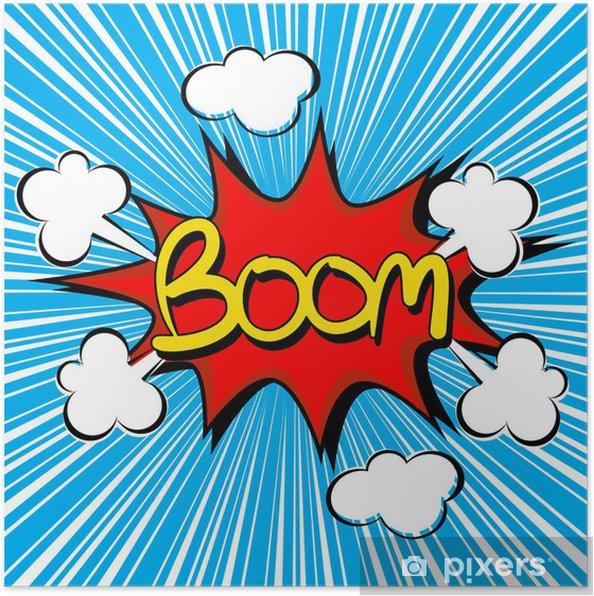 Plakat Boom z prędkości radialnej. komiks dymka - Przeznaczenia