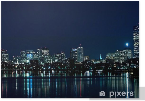 Plakát Boston panorama 2 - Amerika