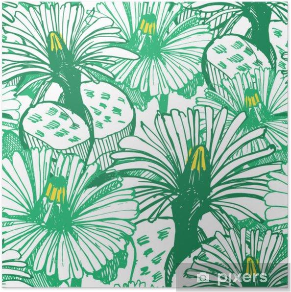 Plakat Botaniczne Zielone Tło