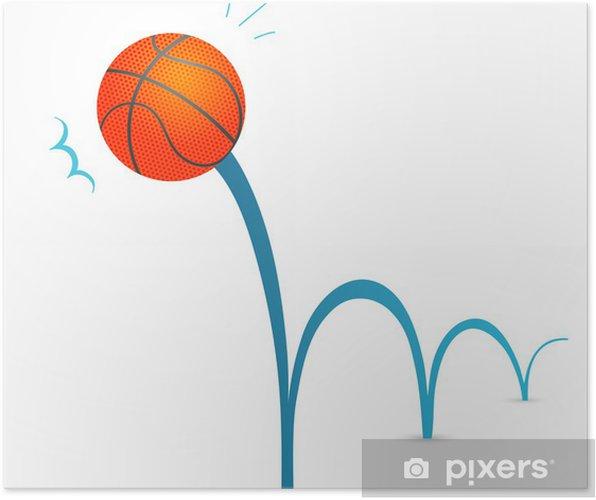 Plakat Bouncing Basketbal Mic Kreslene Ilustrace Pixers Zijeme