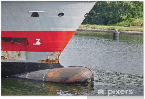 Plakat Bow statku - Transport wodny
