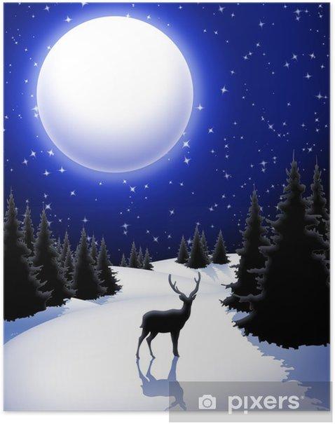 Plakat Boże Narodzenie Krajobraz krajobrazoweg-Chistmas-Noël Krajobrazu-2 - Pory roku