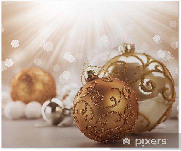 Plakat Boże Narodzenie Ozdoby Vintage - Święta międzynarodowe
