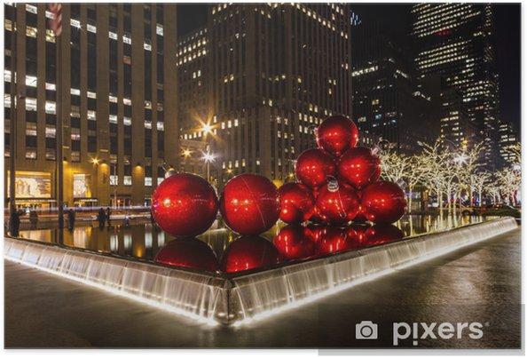 Plakat Boże Narodzenie w Nowym Jorku - Ameryka