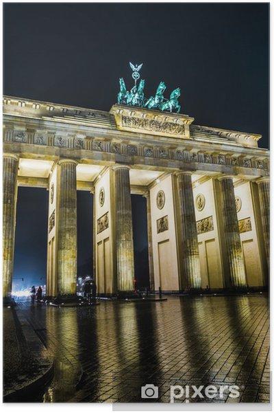 Plakát Braniborská brána v Berlíně - Německo - Evropská města