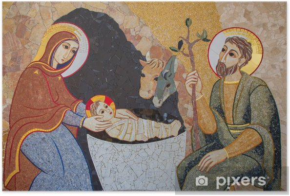 Plakat Bratysława - mozaika Narodzenia w ul. Sebastian katedra - Tematy