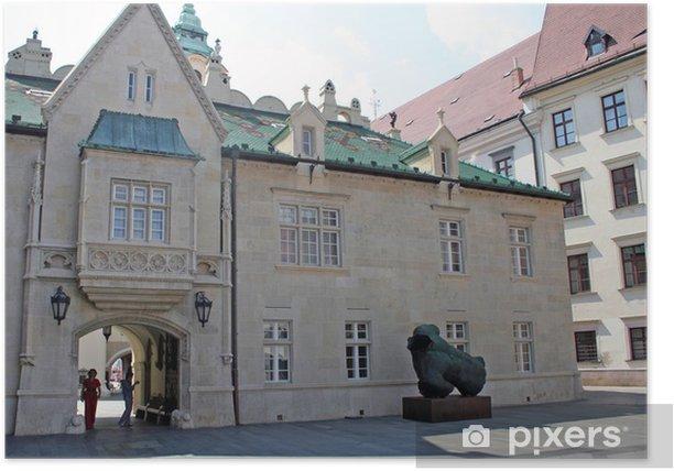 Plakat Bratysława Stary Ratusz: przejście pod wykuszem na atrium - Europa