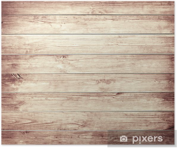 Plakat Brązowy drewniane deski starych tekstury. - Tekstury