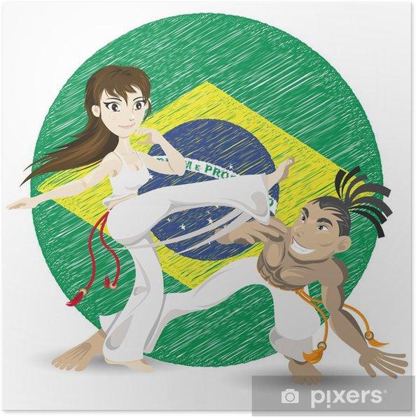 Plakat Brazylijska sztuka walki Capoeira - Sporty ekstremalne