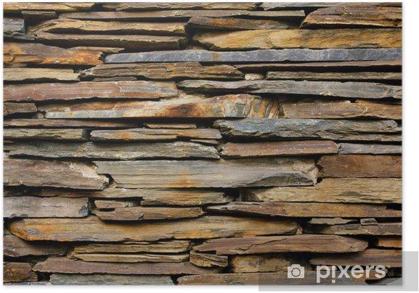 Plakát Břidlice Kamenná zeď textura - Témata