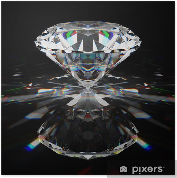 Plakat Brilliant diament - Sukces i osiągnięcia