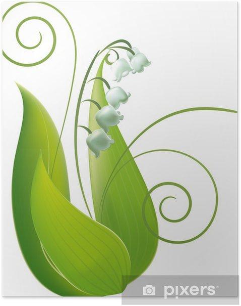 Plakat Brin de muguet - Kwiaty