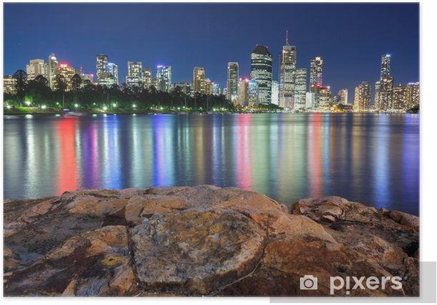 Plakat Brisbane w nocy - Tematy