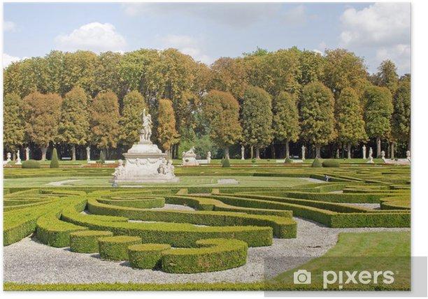 Plakat Broderiebeet w ogrodach pałacu barokowym kościołów Północnej - Europa