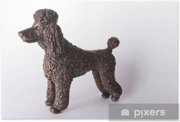 Plakat Bronze statuetka psa pudla - Sztuka i twórczość