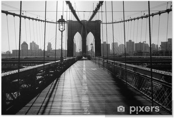 Plakat Brooklyn Bridge, Manhattan, Nowy Jork, USA -