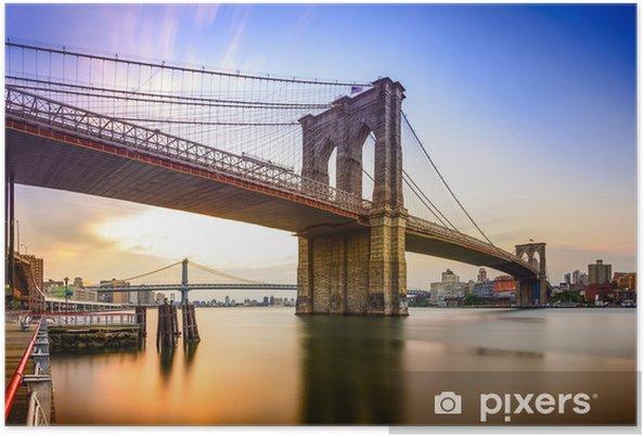 Plakat Brooklyn Bridge, Nowy Jork, USA - Ameryka Północna