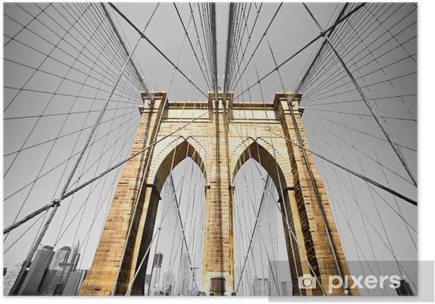Plakat Brooklyn Bridge, Nowy Jork. USA. -