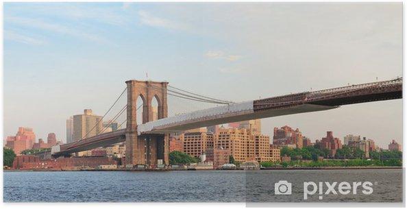 Plakat Brooklyn bridge panorama - Tematy