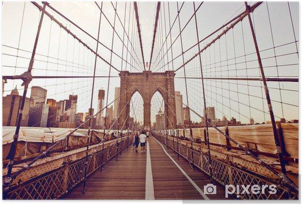 Plakat Brooklyn Bridge w Nowym Jorku - Tematy