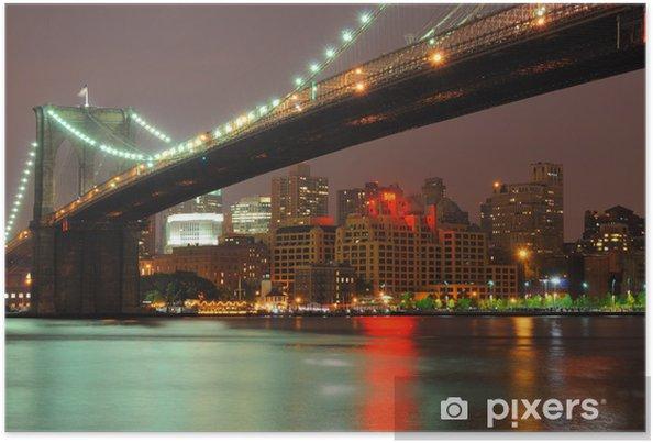 Plakát Brooklyn Bridge za soumraku - Brooklynský Most