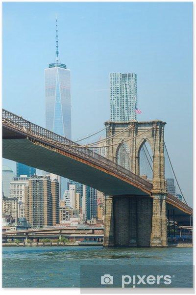 Plakat Brooklyn Bridge - Nowy Jork