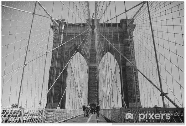 Plakát Brooklynský most v New Yorku, USA - Severní Amerika