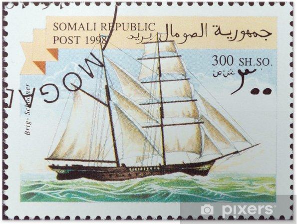 Plakat Bryg żaglowiec (Somalia 1998) - Transport wodny