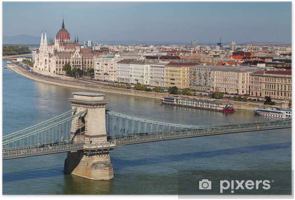 Plakat Budapeszt - panorama z zamku - Europa