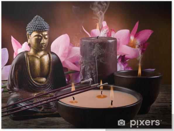 Plakat Buddah z świec i kadzideł - Style